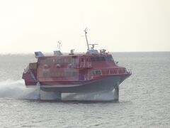 後航は、愛ちゃんです。  = セブンアイランド愛 = 昭和55年竣工(米国ボーイング社製)279旧総トン。  新造後、しばらくはアメリカやカナダで活躍。 昭和62年~平成12年の間、加藤汽船・関西汽船/神戸-小豆島-高松航路でジェット7として就航。 平成14年から東海汽船で活躍しています。