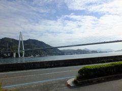 その後、レンタカー会社に車で移動、レンタカーを借りてやっとスタートです。 まずはしまなみ海海道の生口島に向います。 写真は生口島のインターを降りてから撮影した生口橋です。
