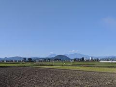 あの山の方向が会津若松かな?なんて景色を楽しむ♪