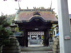 ロープウェイ乗り場の横の鳥居はこの神社は 艮神社(うしとらじんじゃ)のものだった用です。
