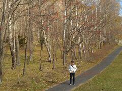 昭和新山の公園? 綺麗に見えますが、ウ○コ(誰の?)だらけなので注意。