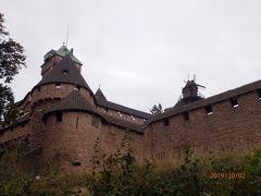 オー・クニクスブール城 見応えのある立派な古城。