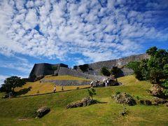 本日は天気が良いので、世界遺産のグスクで一番好きな勝連城へ。 バエル。