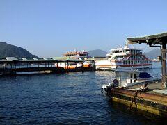 厳島港に入港です。 宮島観光が楽しみです。