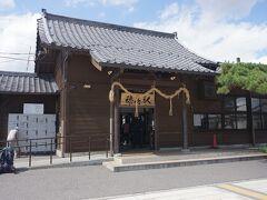 ●JR穂高駅  安曇野観光の拠点となる駅です。 駅前で、自転車をかりて、散策に出かけます。