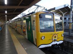 夜行バスで高崎駅に到着後、上信電鉄で富岡へ。