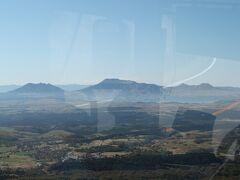 車窓から眺めた阿蘇五岳。