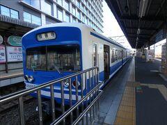 しかもこんな可愛い電車なの~? (^▽^)