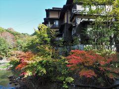 そして黒川温泉と言えば、絵になるのが丸鈴橋から見たこの景色。綺麗な紅葉が花を添えます。