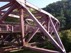 対岸からみたあやとり橋です。
