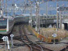 久しぶりの国府津駅。 以前は東京発山北行き電車があったのですが。 15両編成が御殿場線に入ることはありません。 この先は国府津車両センター。
