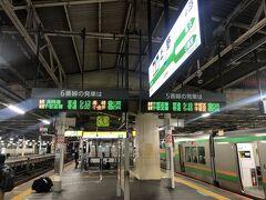 やって来ました上野駅! もちろんフリーパスを最大限活用したいのでスタートは始発列車からです! 5:13発の高崎線高崎行きに乗車します。