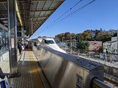 新横浜駅からのぞみで、新大阪に向かいます。