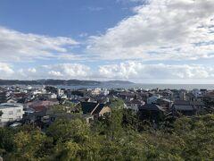 長谷寺  境内からは海が眺められます。快晴でとても清々しい日でした。