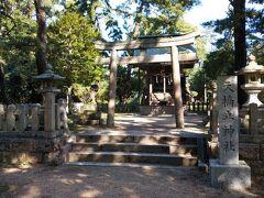 砂州内を進む。途中、天橋立神社がある。松並木の中にひっそりとたたずんでいる。自転車のスピードがでていると通り過ぎてしまいそう。