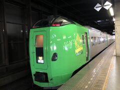12時発のライラック22号で札幌に向かう。 そこから先、室蘭方面へ進む予定だったのだが、室蘭線で人身事故発生のため、ダイヤが大幅に乱れていた。