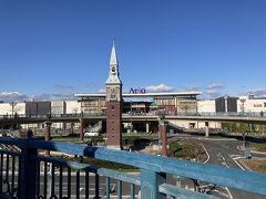 JRで倉敷駅へ。15分ほどと近くて良かった!  倉敷みらい公園口にはアリオ倉敷。