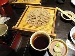 """松本駅近くの「蔵のむこう」という居酒屋さんで夕食。 信州といえば""""蕎麦""""。"""