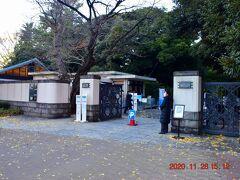 駅から目黒方面へ徒歩5分程度で東京都庭園美術館に到着。 都内穴場と称される紅葉スポット。