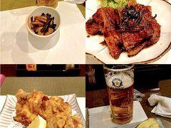 温泉から宿へ戻る途中で、夕食を食べるべく、店(かかし[http://www.kakashi-omotenashi.com/])を探していたところ宿の通り沿いに、郷土料理の店があったので入店しました。 ビールは当然Sapporo Classic[https://www.sapporobeer.jp/classic/]。 帯広名物といえば豚丼ですが、上の肉の部分だけ提供していたので迷わず注文。 さらに、北海道の料理としてざんぎとじゃがバターをいただきました。 じゃがバターはイカの塩辛がついていて、この塩気とバターとじゃがいもの組み合わせがとても合います。 値段もリーズナブルで満足度は高いです。