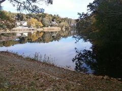 大池が見えてきました