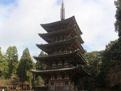 とても美しい醍醐寺の五重塔。 平安時代の951年に建てられた塔で、京都でもっとも古い木造建築物だとか。 当然国宝です。