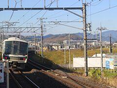 まず、朝9時過ぎに京都駅からJR嵯峨野線(山陰本線)で出発。 嵯峨野観光鉄道のトロッコに乗るために馬堀駅で下車します。