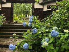 資福寺山門。三脚を立てて撮る人が邪魔でした。