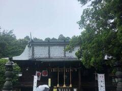 青葉神社。まだ令和を祝す幟が。