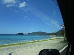 ダイヤ浜海水浴場(ここも今年は休止)  とてもきれいな海。