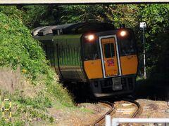 大田市駅に戻ってしばらく待つと、乗車予定の列車がやってきました。