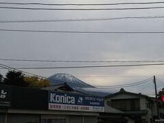 バス停からも富士山