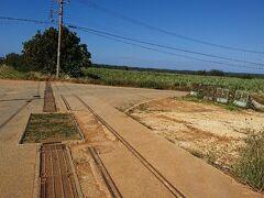 先程とは別の場所のシュガートレインの線路跡