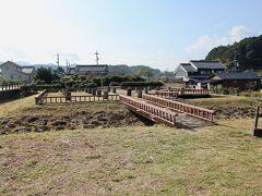 飛鳥水落(みずおち)遺跡 中大兄皇子が造った我が国初の水時計の建物跡です。