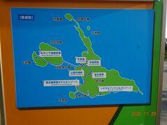 宮古島の様子を現した路線図