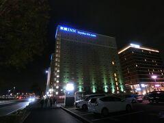 いつものように、前泊。 1号館はコロナ専門ホテルになってます。 時々灯りがあったような・・・