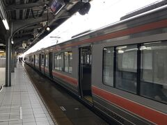 ■浜松→東海道本線→名古屋 浜松9:43発特別快速大垣行き。 ここまで来るとこっちのもんだ、という気になります。何がこっちのもんだと言われると困りますが、名古屋地区を走る転換クロスシート車が岐阜県や滋賀県まで運んでくれます。しかも、スピードが速い! 18きっぷ利用者はそんなことに舞い上がります。  列車は豊橋を過ぎるとかなり混雑しました。この旅に出て初めての「密」です。 特別快速は大府すら通過します。名古屋11:12着。ここで下車。 昼食にはちょっと早いですが、ホームのきしめんを食べます。  写真は名古屋駅