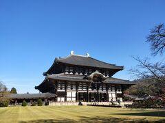 中門の手前を左に行くと料金所のある入り口があり、ようやく、大仏殿が見えてきた!