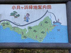 さて、目的地の手前に小貝ケ浜緑地があったので散策へ行ってみました。