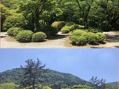 箱根小涌谷蓬莱園の広々した庭園。