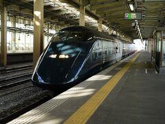 この日の宿は、越後湯沢の湯宿を予約しているので、上越新幹線で越後湯沢へ向かうことにする。 乗り込んだのは、14時26分発の越後湯沢行『とき454号』。 12月に引退する現美新幹線を使った列車だ。