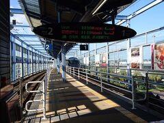 宮崎空港駅に到着して、ここから宮崎市内へ向います。宮崎空港~宮崎間は特急列車も特急料金無しで乗車できるという素晴らしい制度があります。