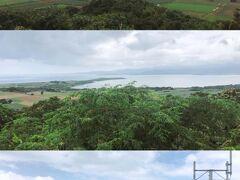 小浜島でいちばん高い標高99mの大岳(うふだき)からの眺め。上から東、西、南方向。
