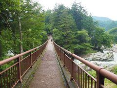 石舟橋を渡ります。