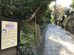 亀ヶ谷切通し。  北鎌倉側の登り口。