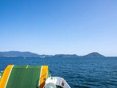 高松港へ移動し、フェリーで小豆島へ。 池田港まで約60分。