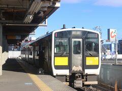 水戸駅からJR水郡線に乗ります。 約30分で常陸太田駅に到着。 終着駅です。