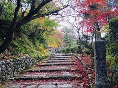 ここまで来ると だいぶ人も減ってきて  化野念仏寺に到着