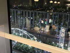 関空経由で帰るので 天王寺駅で時間調整 あべのハルカスで コーヒー飲みながら 夜景観賞