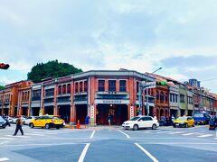 康定路と廣州街の交差点にある、剥皮寮歴史街区の建物。